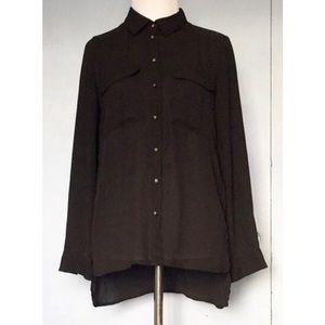 Button front shirt w/ pockets
